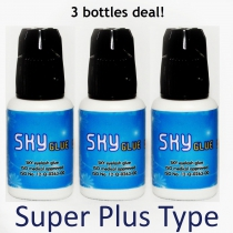 SKY Glue / Adhesive for Eyelash Extensions - Super Plus Type 5g x 3 bottles